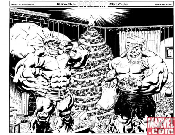 Hulk #9 Santa Covers
