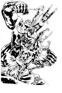 Fantastic Force #1 Cover Sketch
